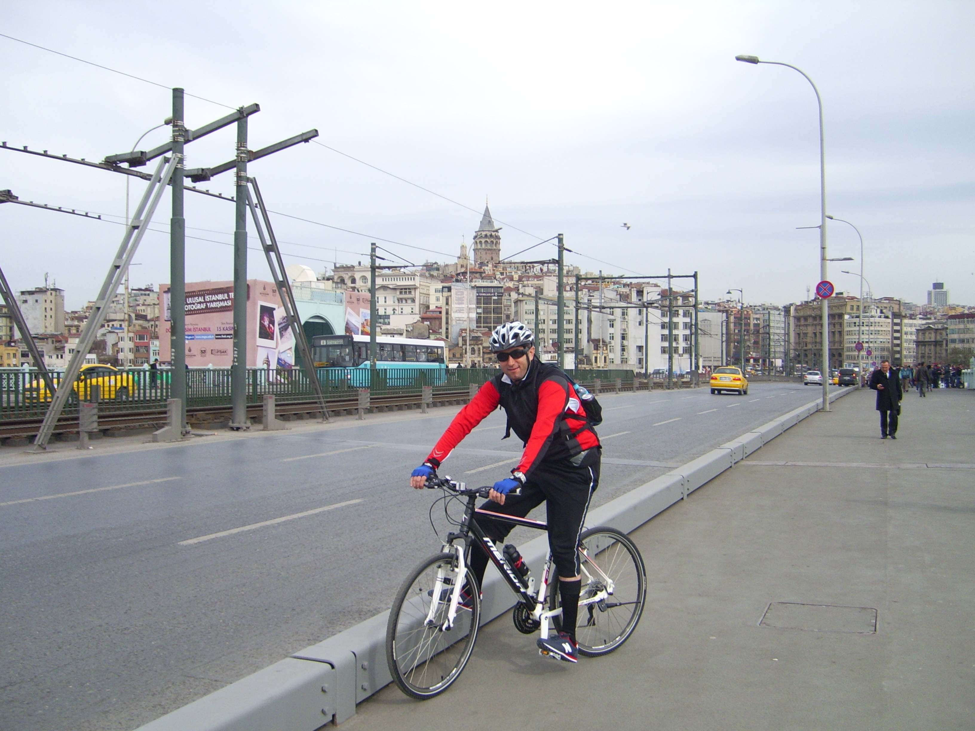 Crossing the Galata Bridge