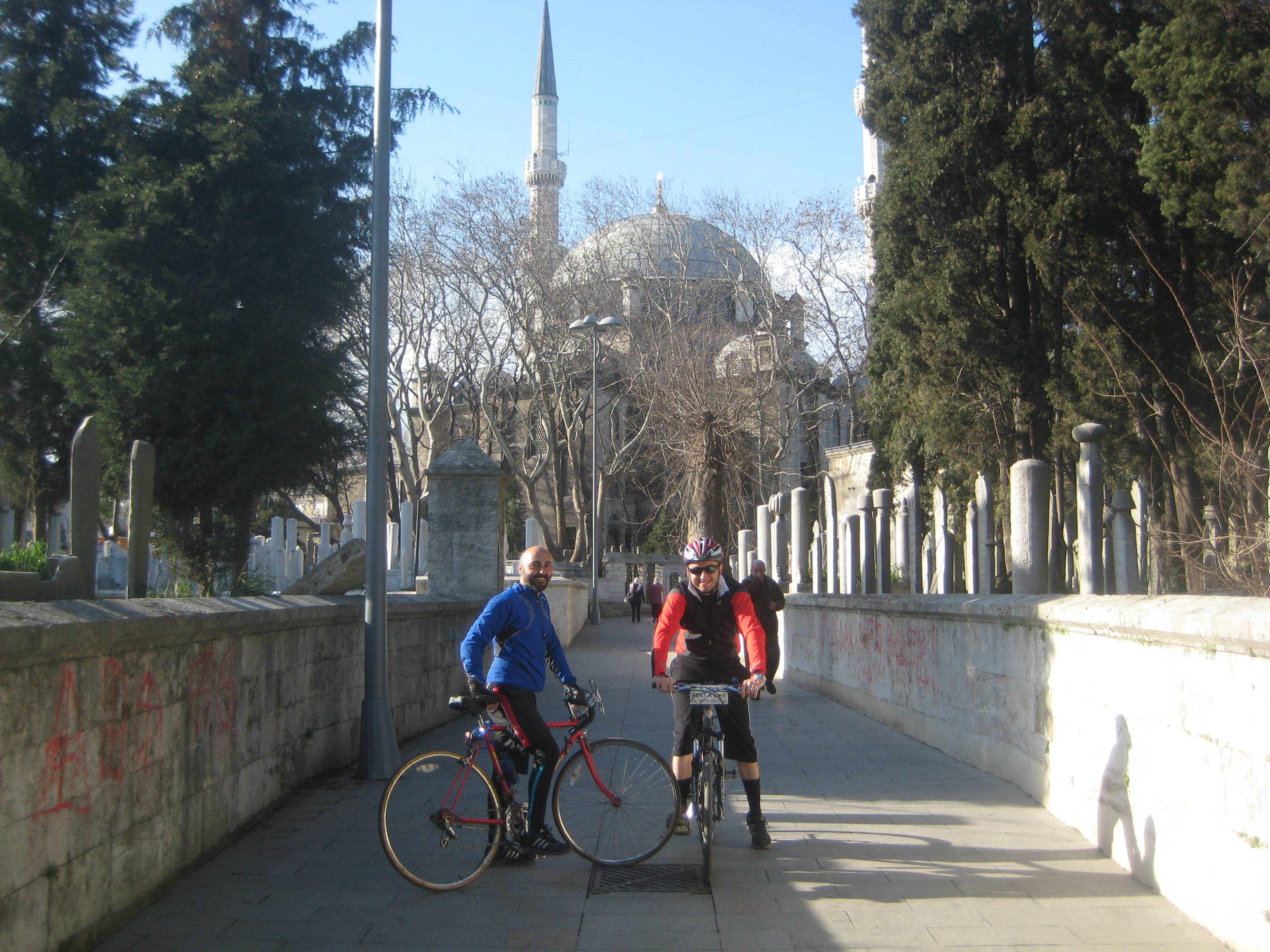 The street to Eyup Sultan Mosque