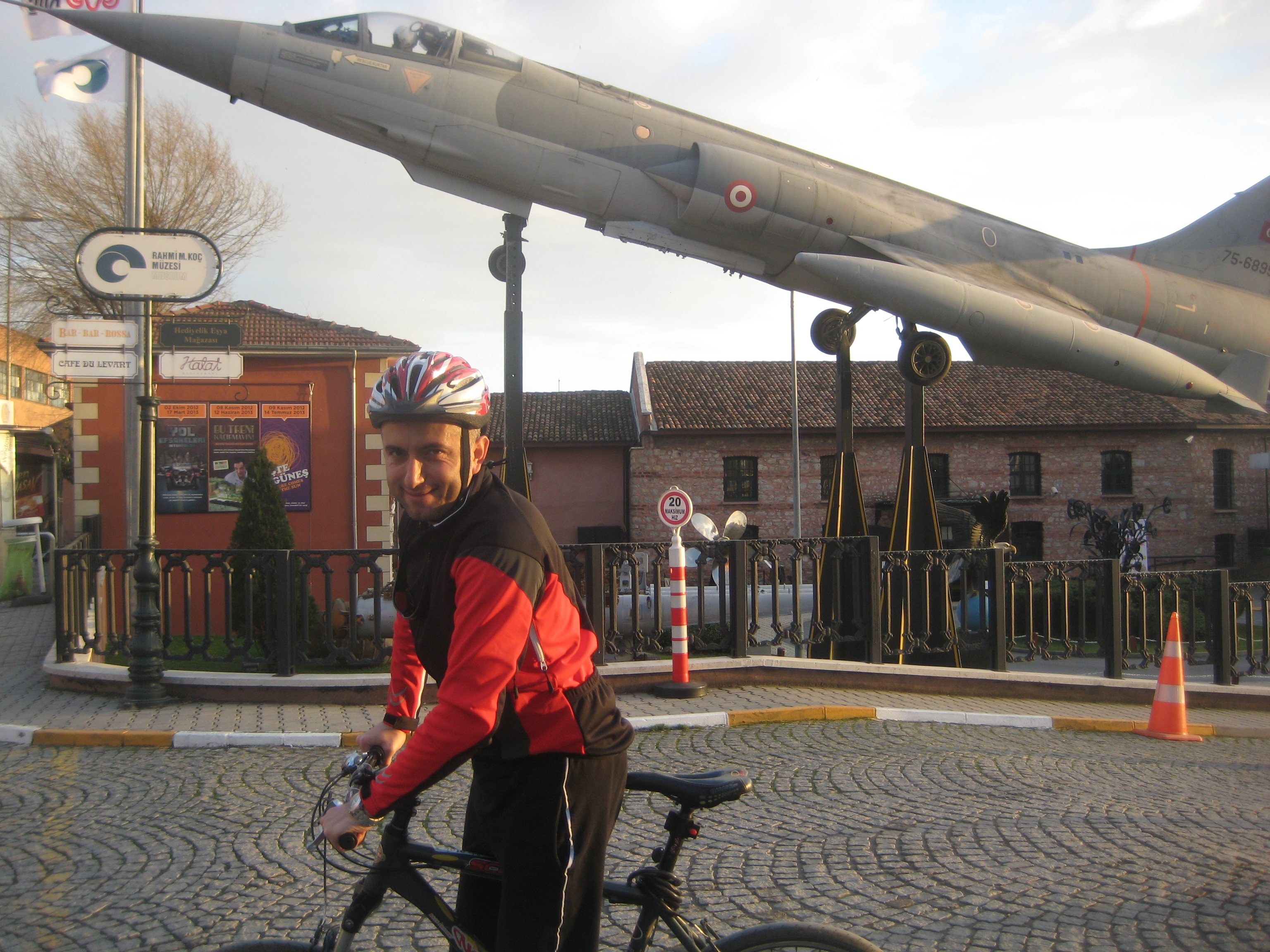Jet at the entrance of Koc Museum
