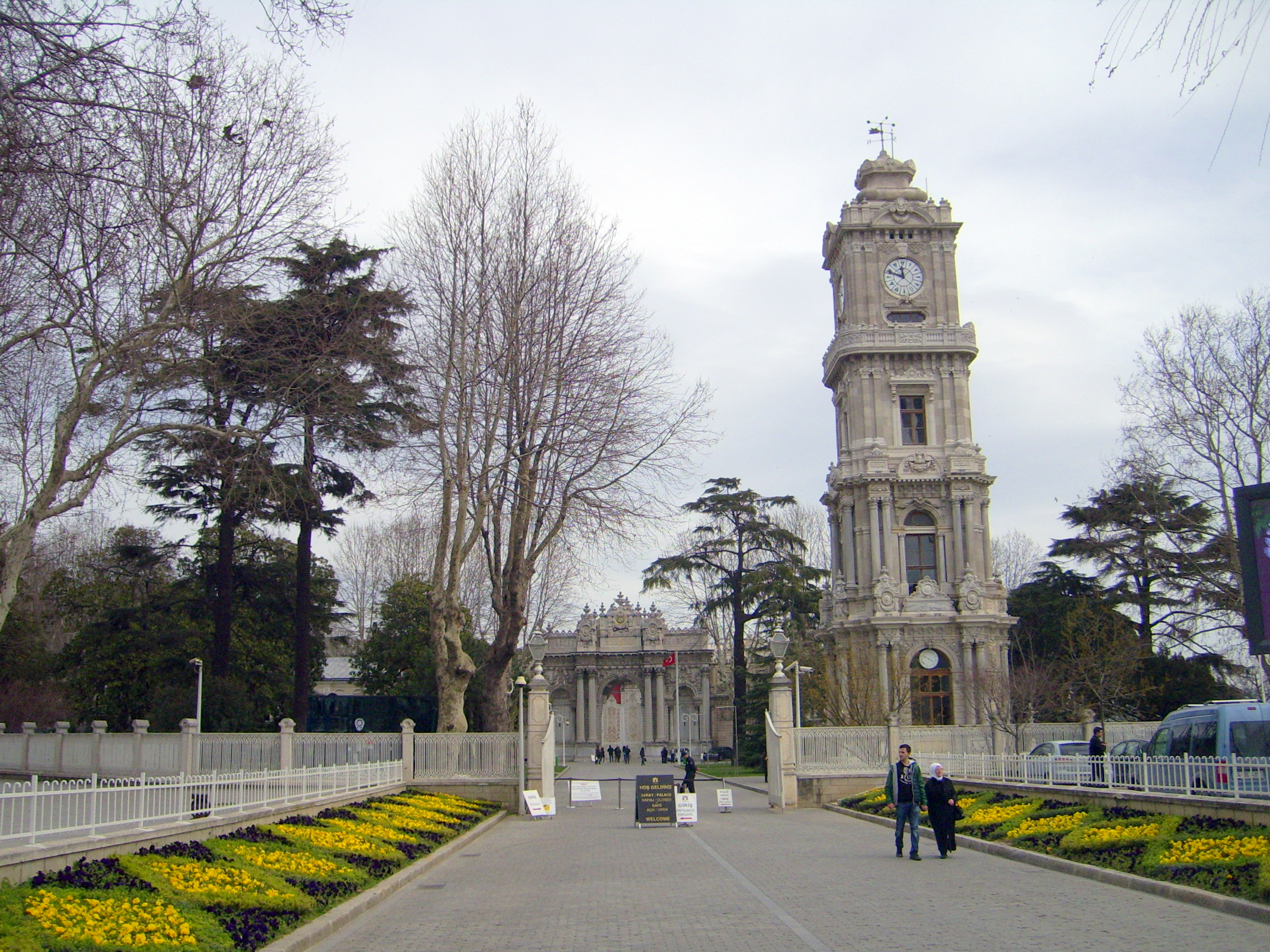 Dolmabahce Palace front entrance