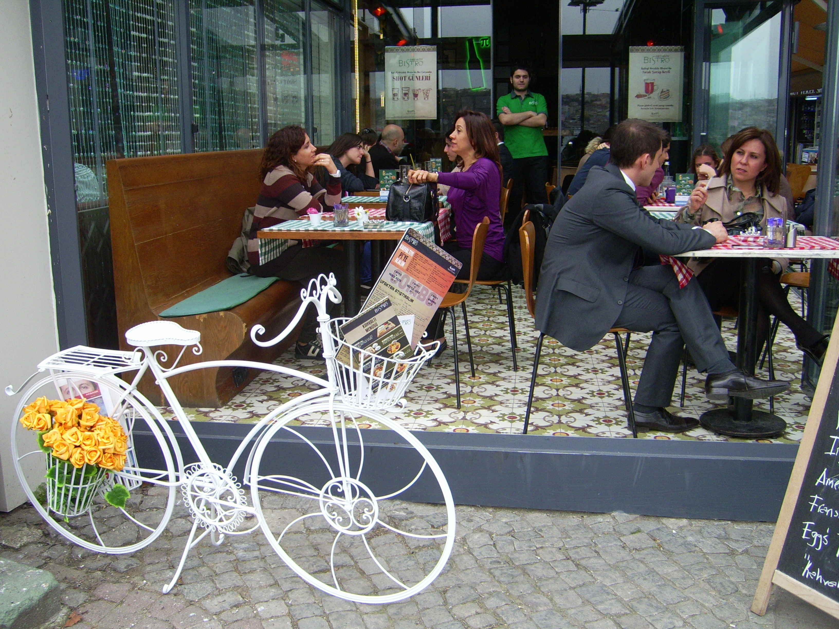 Cafe with pretty bike at Ortakoy