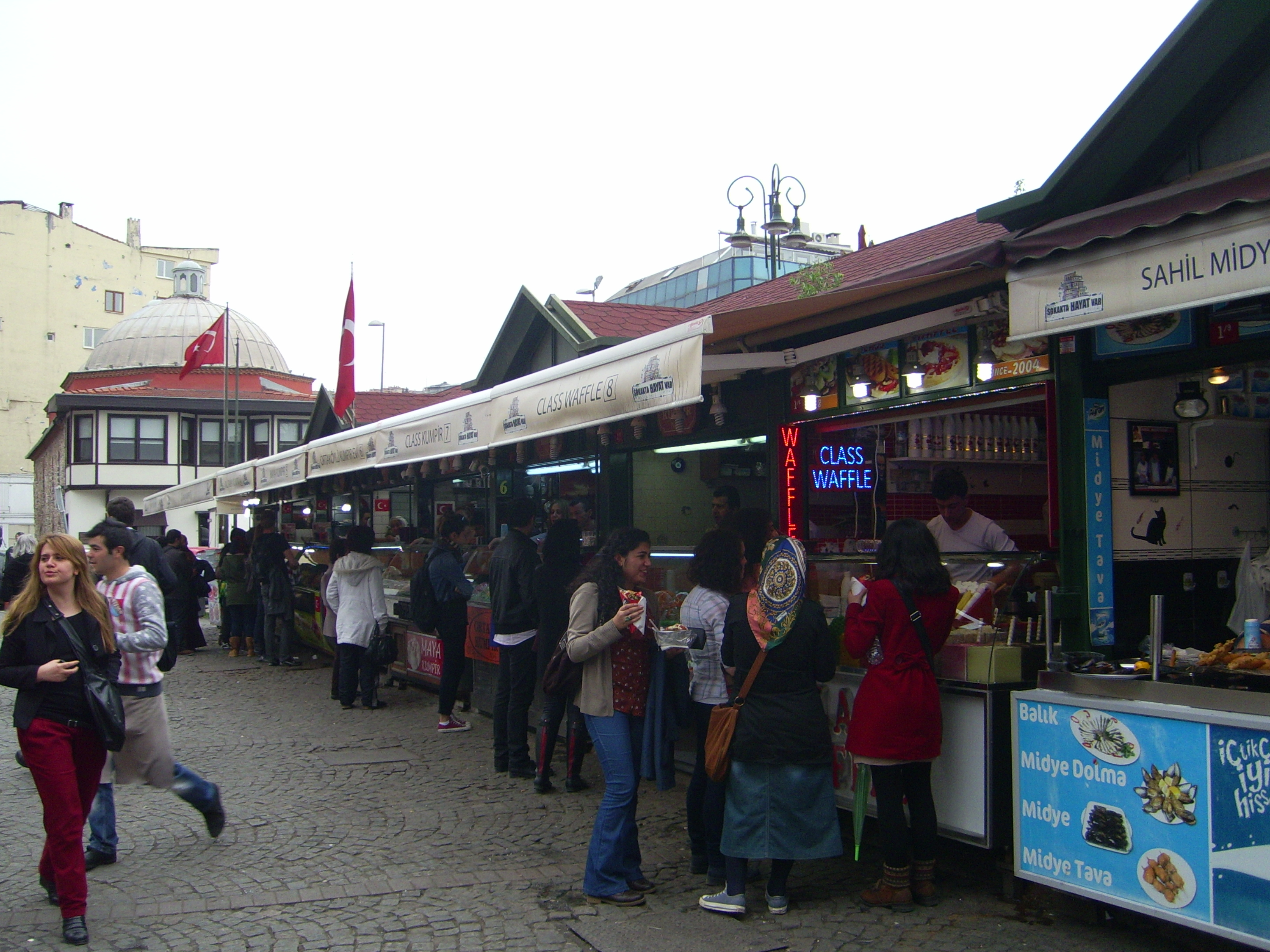 Food stands in Ortakoy