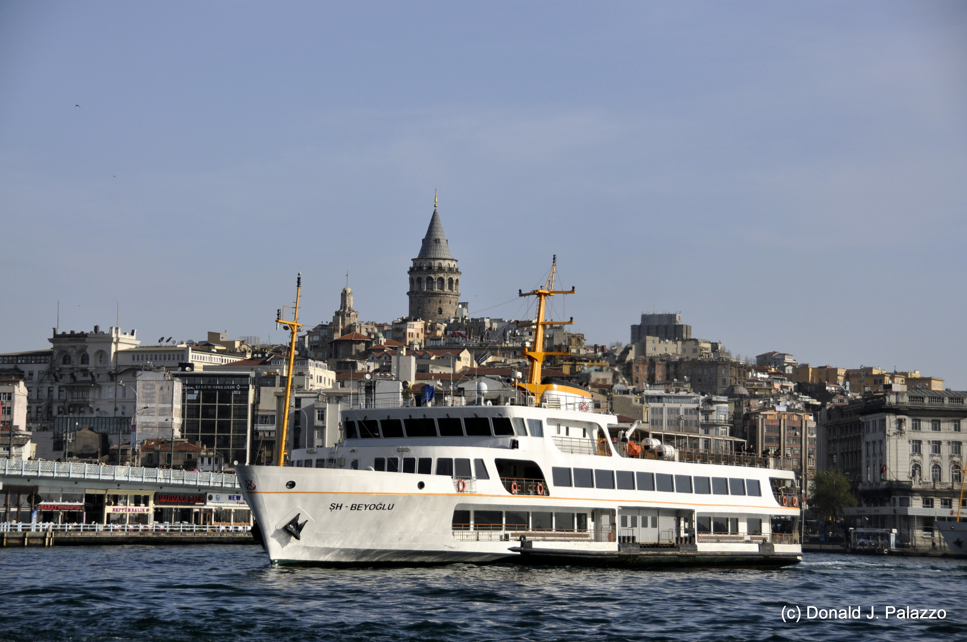 Galata Bridge and Galata Tower