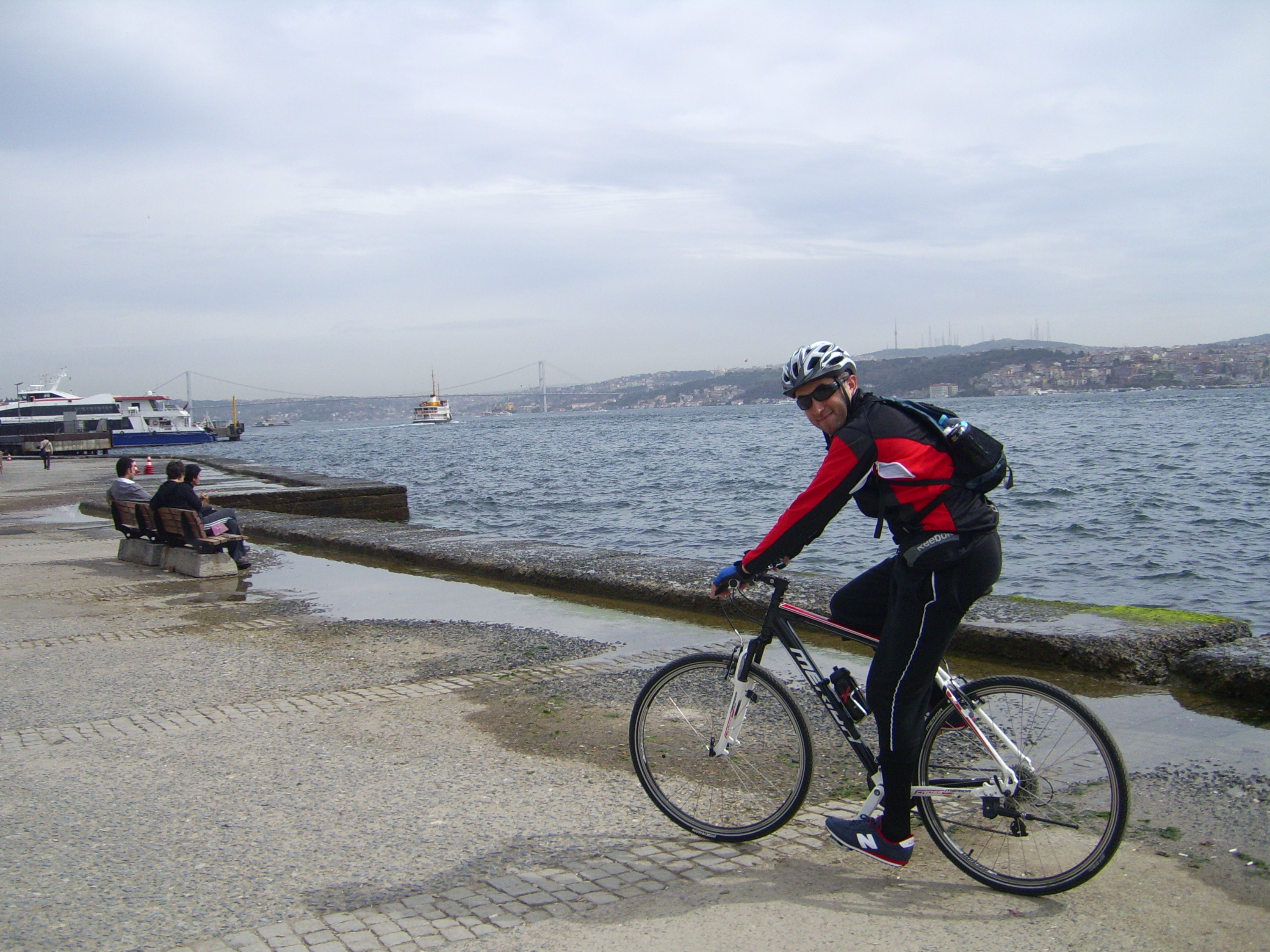 Riding along the Bosphorus waterfront