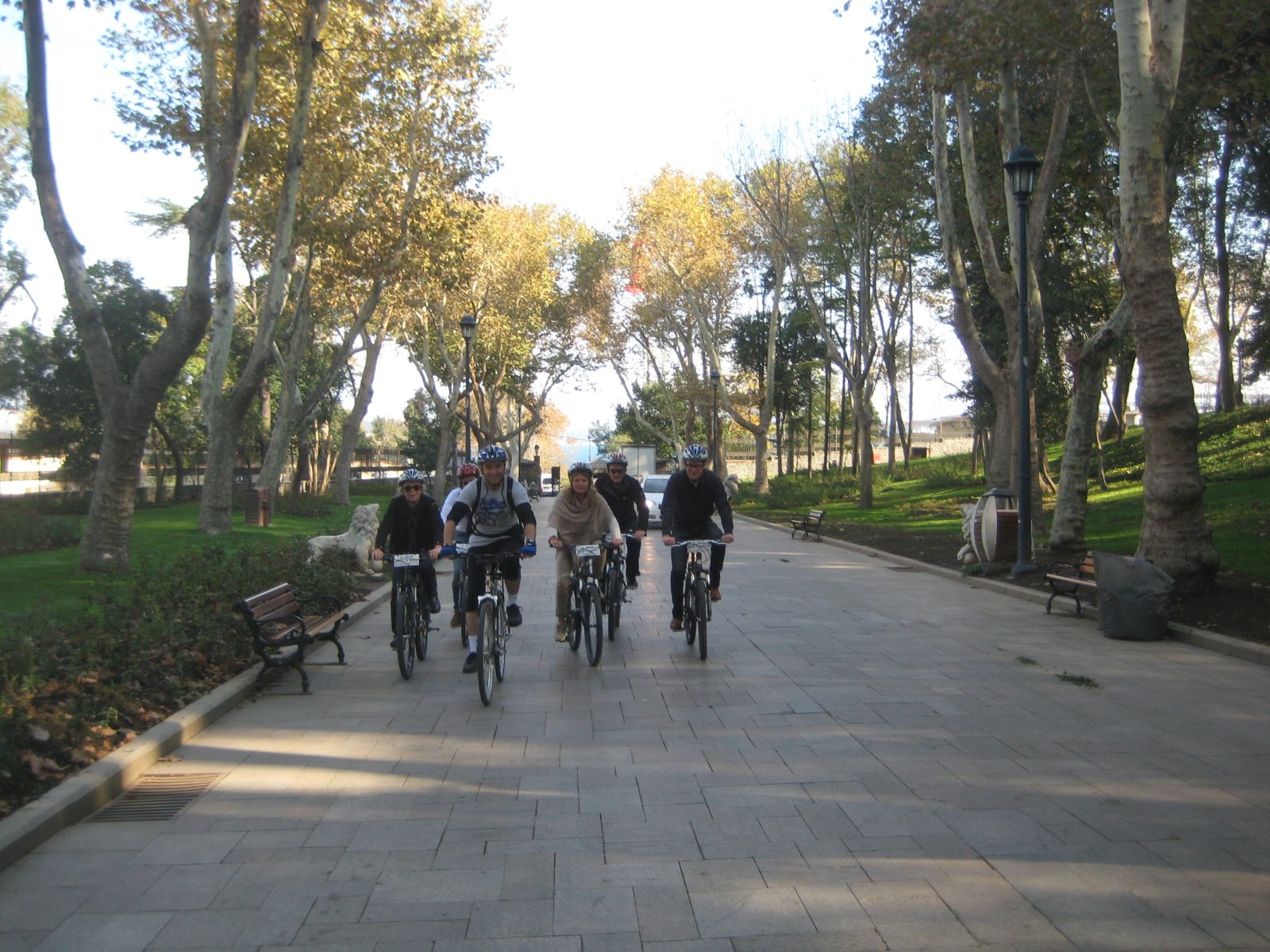 Gulhane Park Old City Bike Tour Group Riding