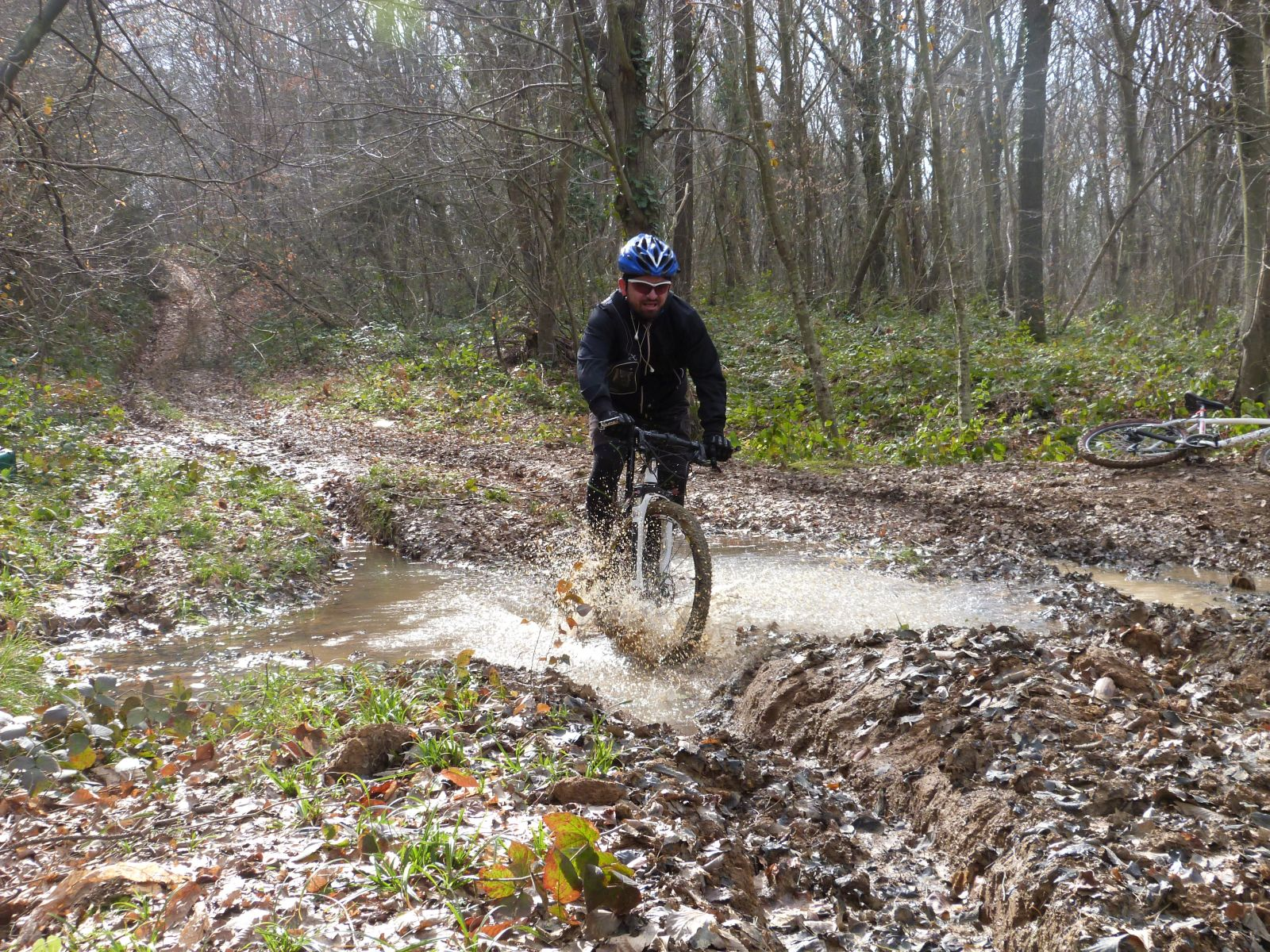 Riding in the mud