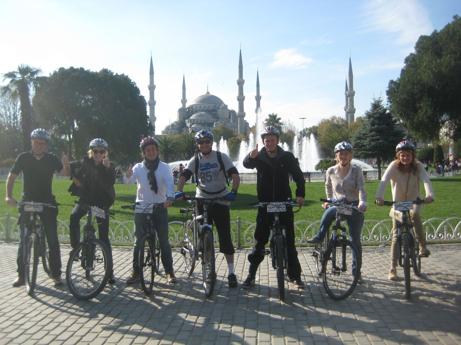 Group photo at Blue Mosque